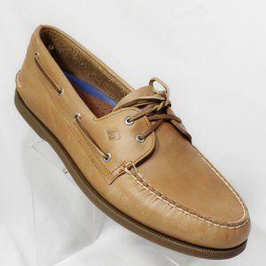 Boat Shoes 16 W Wide Sahara Tan 2 Eye Hand Sewn
